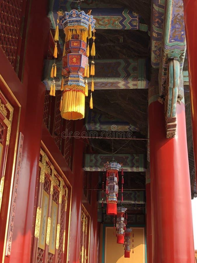 Den Forbidden City slottlyktan fotografering för bildbyråer