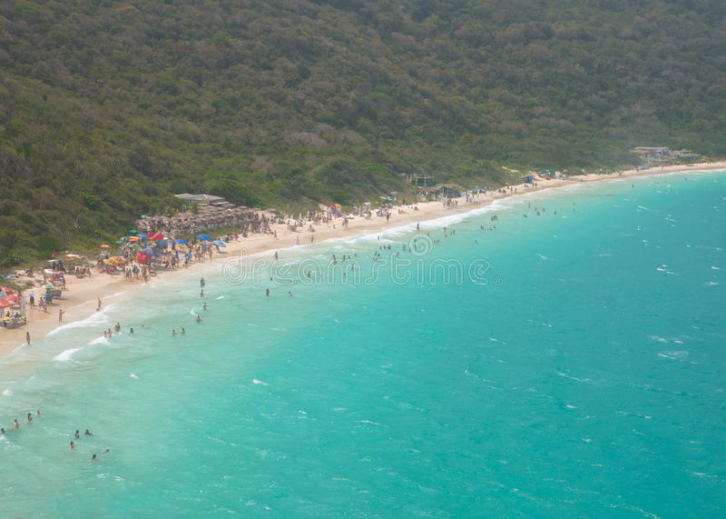 Den Forno stranden i Arraial gör Cabo fotografering för bildbyråer