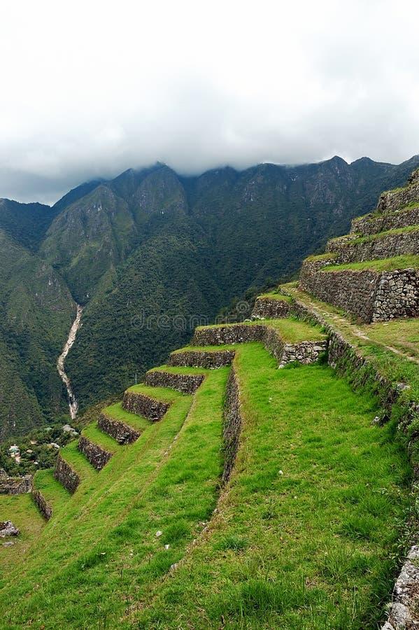 den forntida incaen fördärvar royaltyfria foton