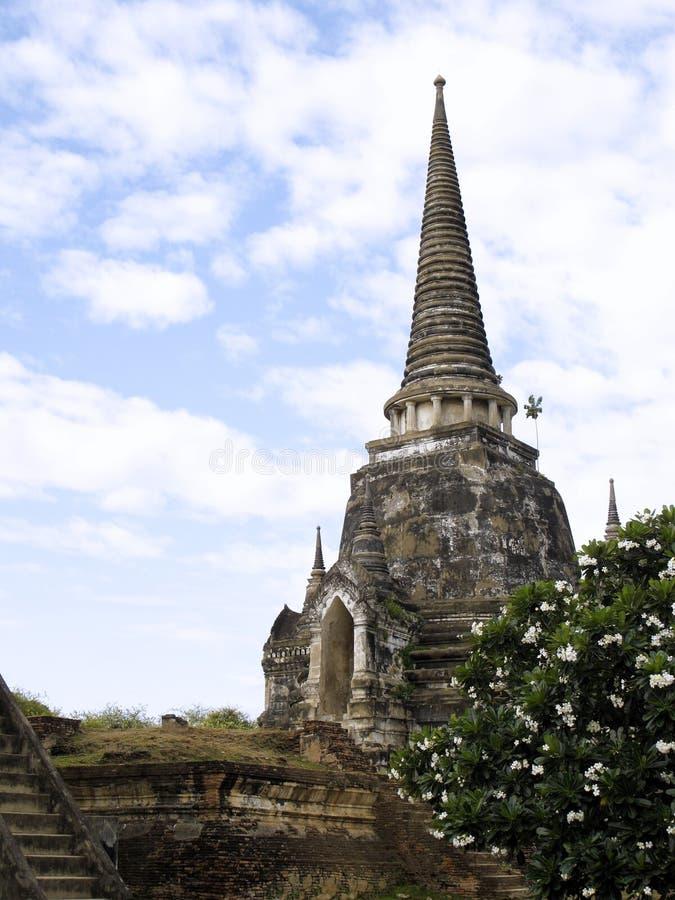 Den forntida pagodaen fördärvar