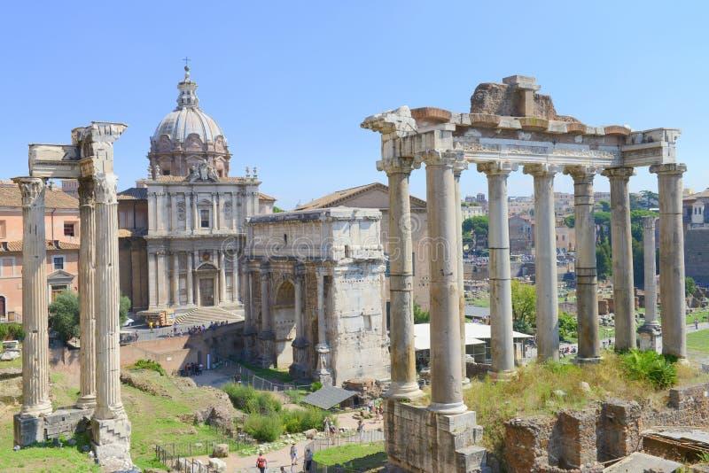 Den forntida Rome staden fördärvar royaltyfria foton
