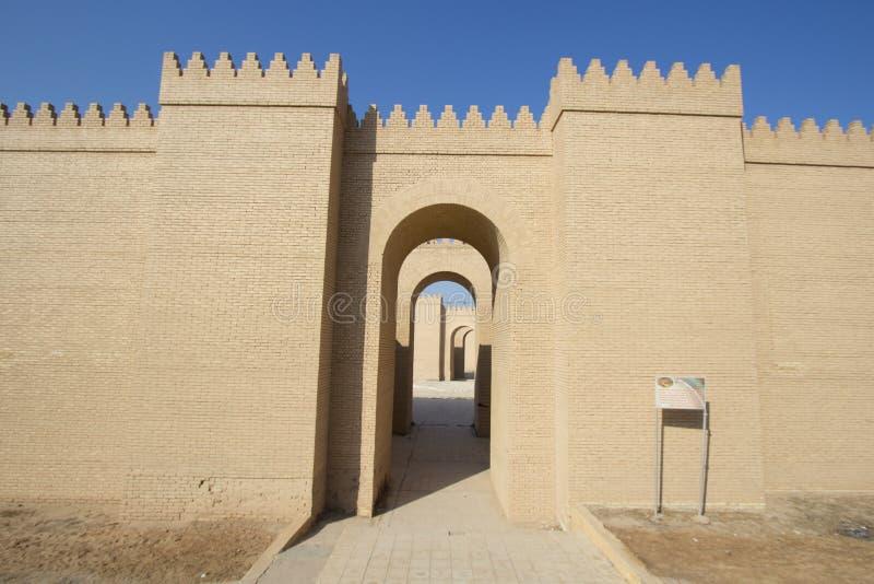 Den forntida staden av Babylon royaltyfri fotografi