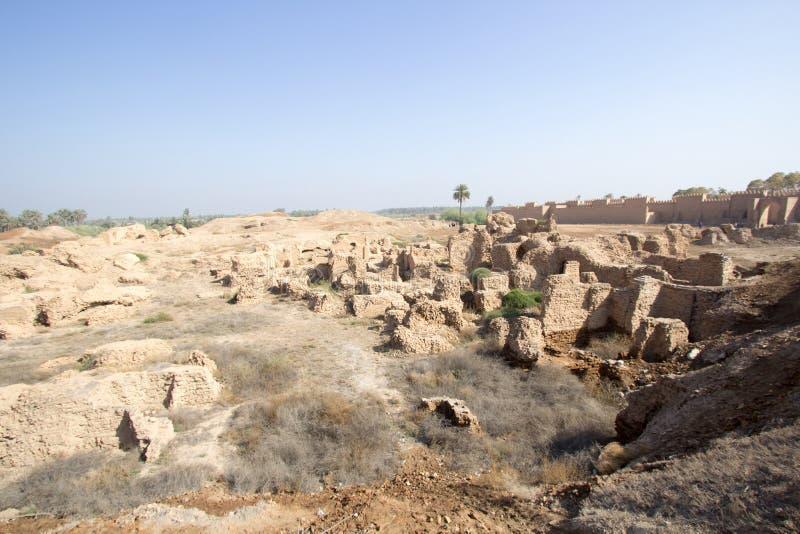 Den forntida staden av Babylon arkivbild