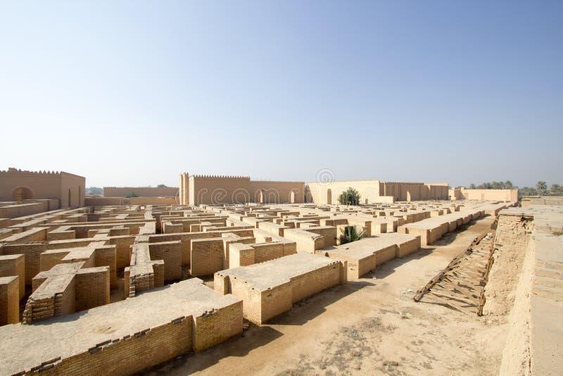 Den forntida staden av Babylon arkivbilder