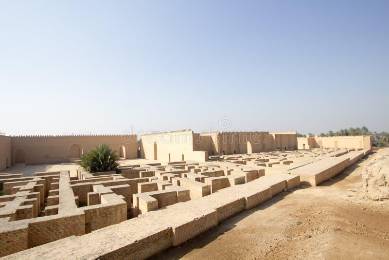 Den forntida staden av Babylon royaltyfria foton