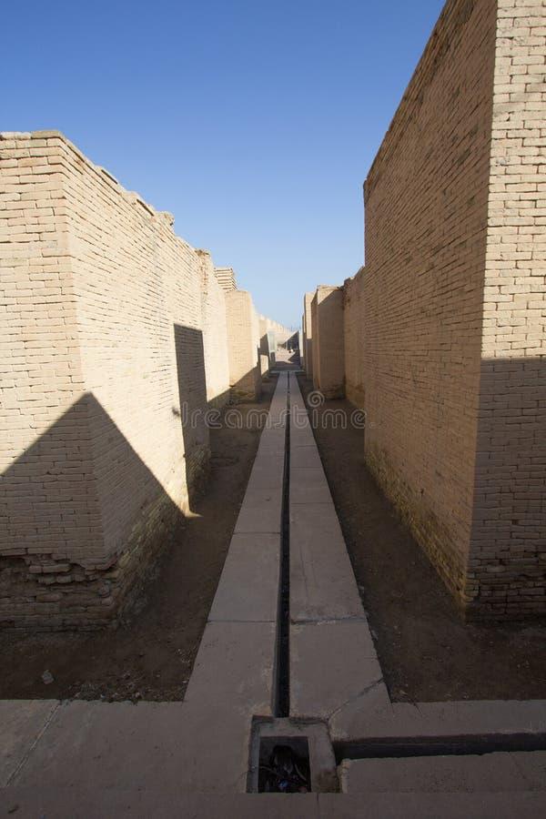 Den forntida staden av Babylon royaltyfria bilder