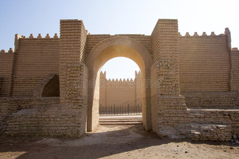 Den forntida staden av Babylon arkivfoton
