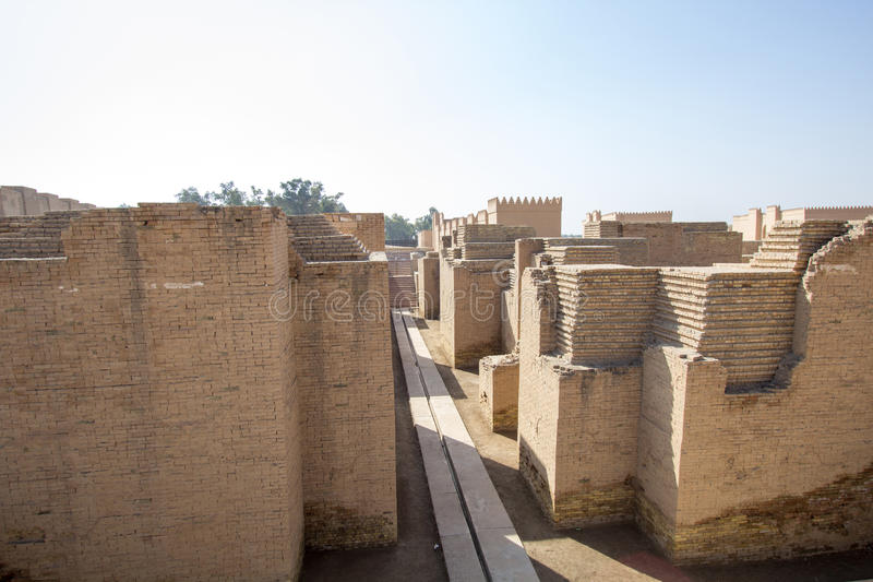 Den forntida staden av Babylon royaltyfri bild