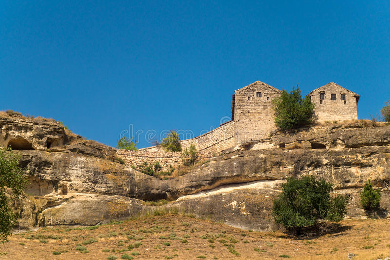 Den forntida staden i bergen crimea arkivbilder