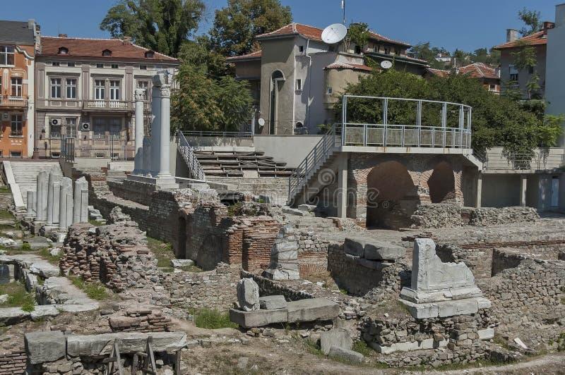Den forntida stadion Philipopolis i Plovdiv, Bulgarien arkivfoton