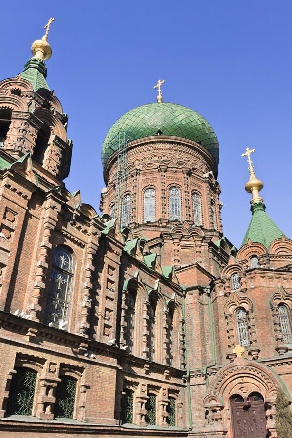 Den forntida Sten Sophia Church i Harbin, störst östlig ortodox kyrka i Far East royaltyfri bild