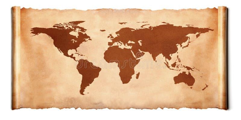 Den forntida världen kartlägger fotografering för bildbyråer