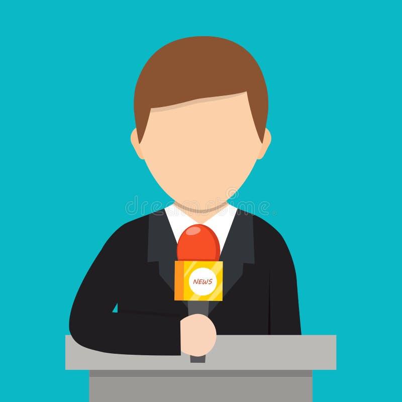 den främmande tecknad filmkatten flyr illustrationtakvektorn Breaking newsbegrepp vektor illustrationer