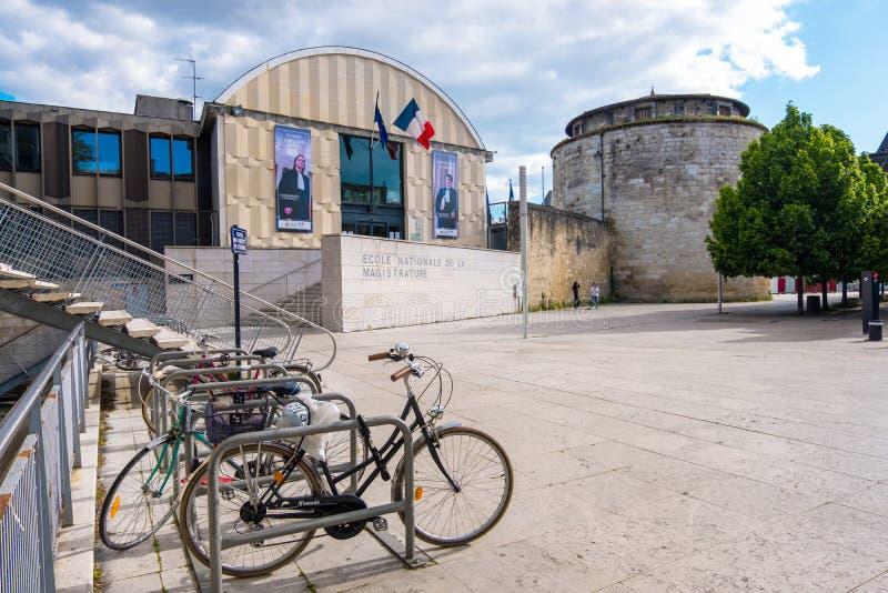 Den franska nationella skolan för domarkåren eller Ecolen nationale de la magistrature eller ENM i Bordeaux, Frankrike royaltyfri bild