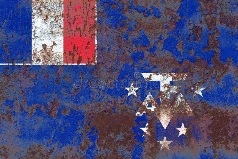 Den franska sydliga och antarktiska landgrungeflaggan, Frankrike dependen royaltyfria foton