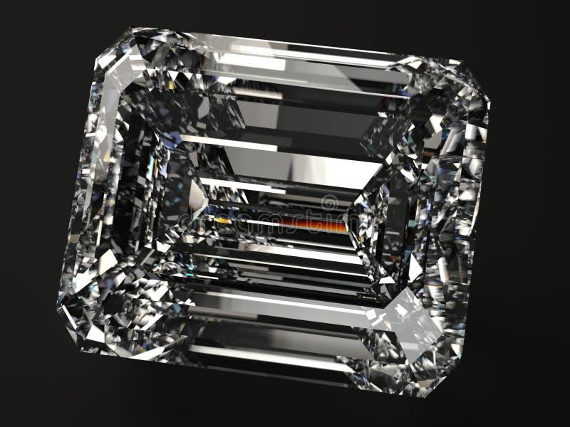 Den fyrkantiga diamanten framför vektor illustrationer