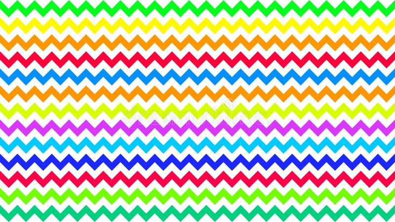 Den göra ett hack i regnbågen gjorde randig färgrikt för bakgrund, konstlinjen formsicksack klottrar pastellfärgat, tapetsla royaltyfri illustrationer