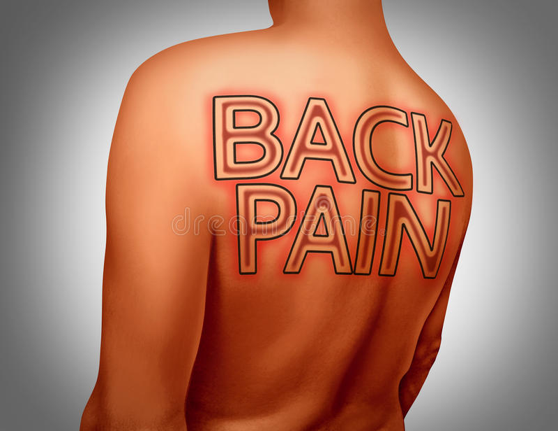 den göra ond desaturated erfarande bildskadan för det tillbaka underlaget som lägger den male manmuskelhalsen, smärtar delvist st royaltyfri illustrationer
