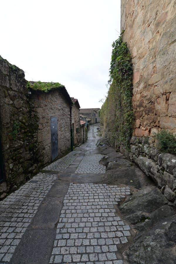Den Galician staden av Tui arkivfoton