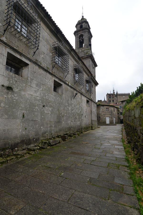 Den Galician staden av Tui arkivbild