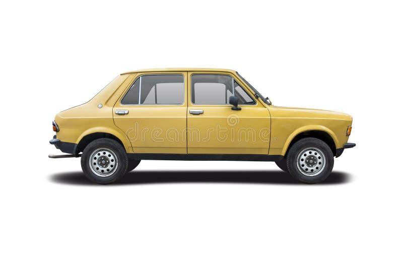 Den gamla bilen Zastava 1100 isolerad på vit royaltyfri foto