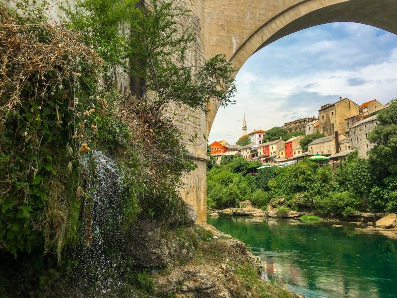 Den gamla bron av Mostar, Bosnien och Hercegovina arkivbild