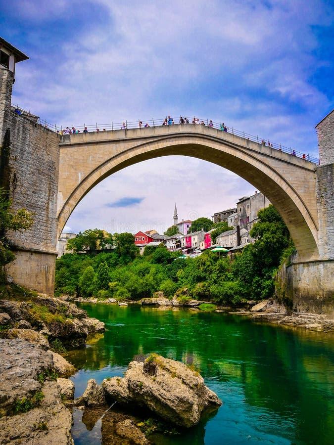 Den gamla bron av Mostar, Bosnien och Hercegovina royaltyfri fotografi