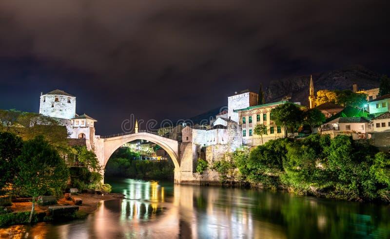 Den gamla bron i Mostar, Bosnien och Hercegovina arkivfoton