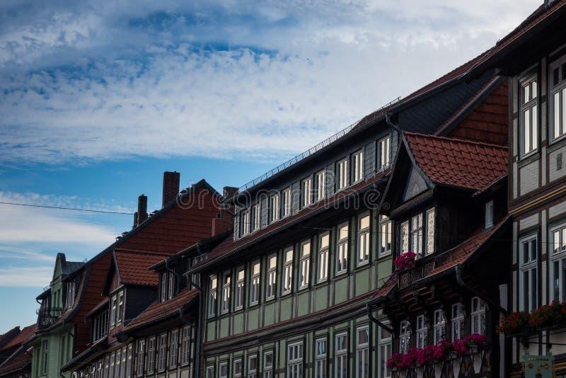 Den gamla byggnaden av staden Wernigerode, Tyskland royaltyfri bild