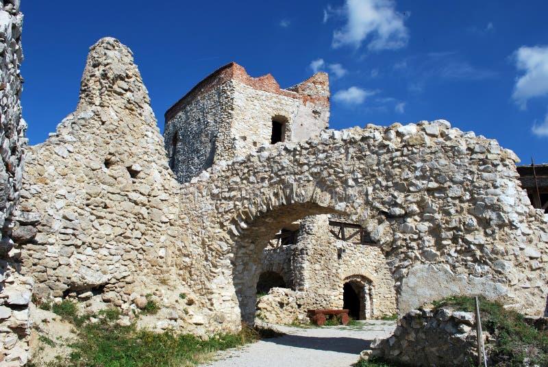 Den gamla Cachtice slotten royaltyfria foton