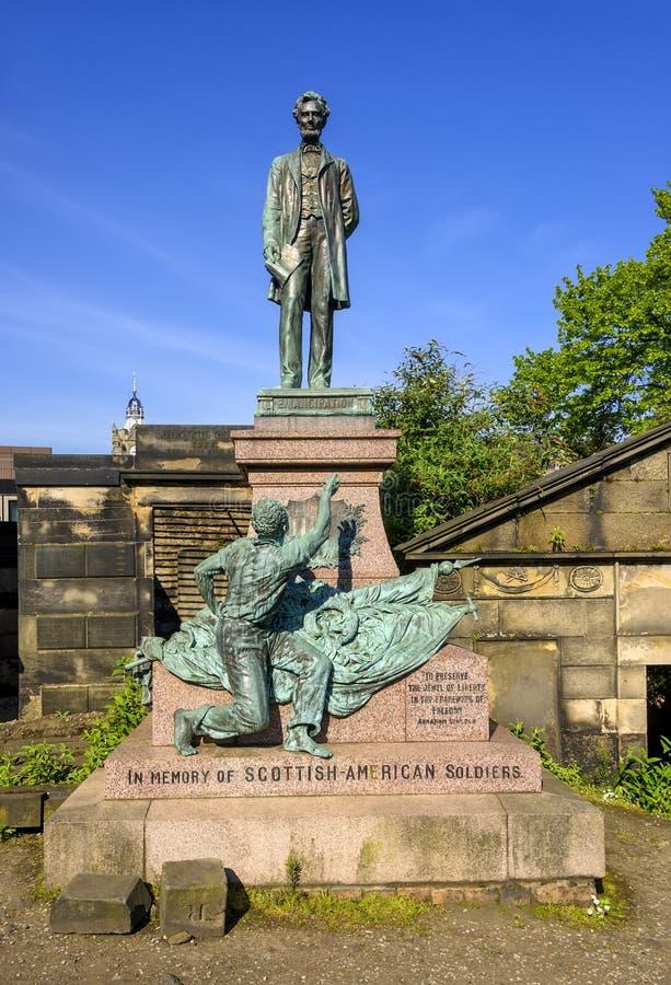 Den gamla Calton gravplatsen i Edinburg royaltyfri bild