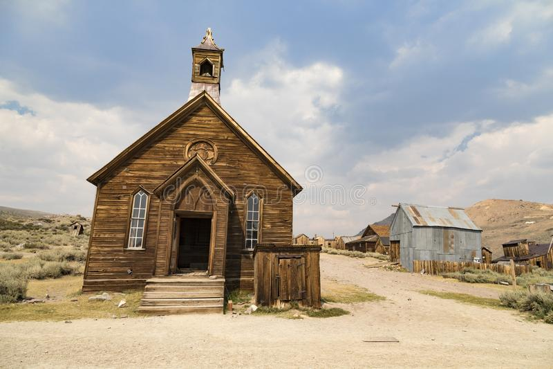 Den gamla kyrkan på bodie arkivfoto