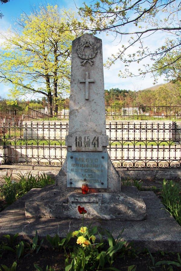 Den gamla kyrkogården Historisk del av Pyatigorsk royaltyfria bilder