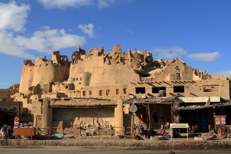 Den gamla oasstaden av Siwa i Sahara av Egypten royaltyfri bild
