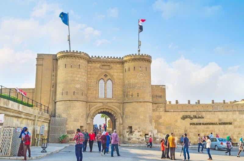 Den gamla porten arkivbild