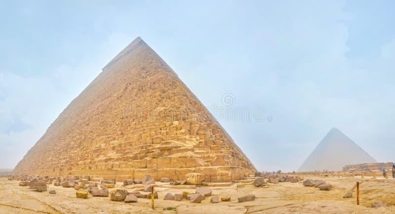 Den gamla pyramiden i det Giza komplexet, Egypten arkivbild