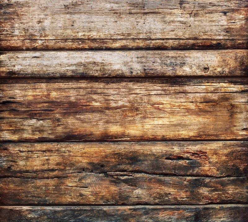 Den gamla smutsiga wood breda panelen använde tätt upp texturerat av det gamla skället wo arkivbilder