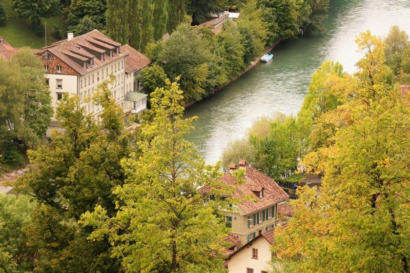 Den gamla staden är det medeltida centret av Bern, Schweiz royaltyfri foto
