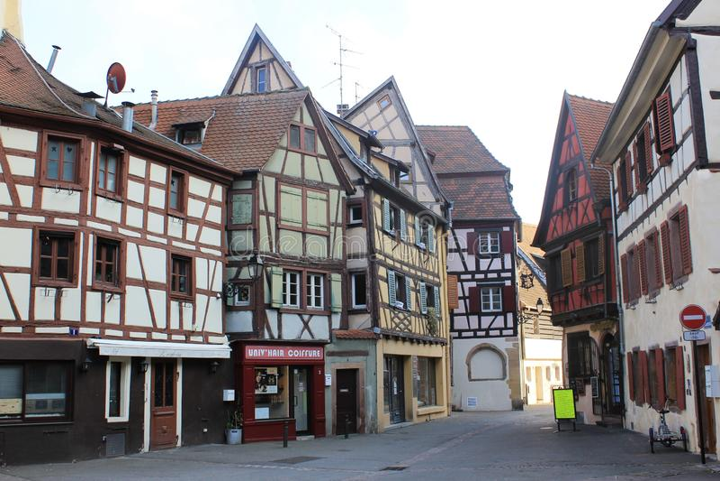 Den gamla staden av Colmar, Alsace, Frankrike royaltyfri foto