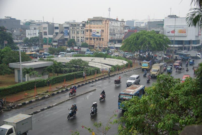 Den gamla staden av Jakarta kallade kotatua fotografering för bildbyråer