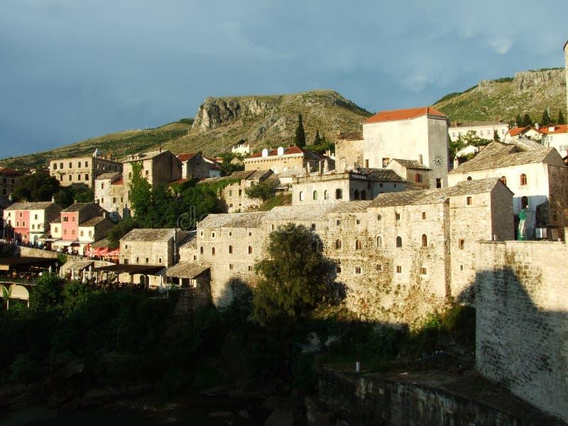 Den gamla staden av Mostar royaltyfria bilder