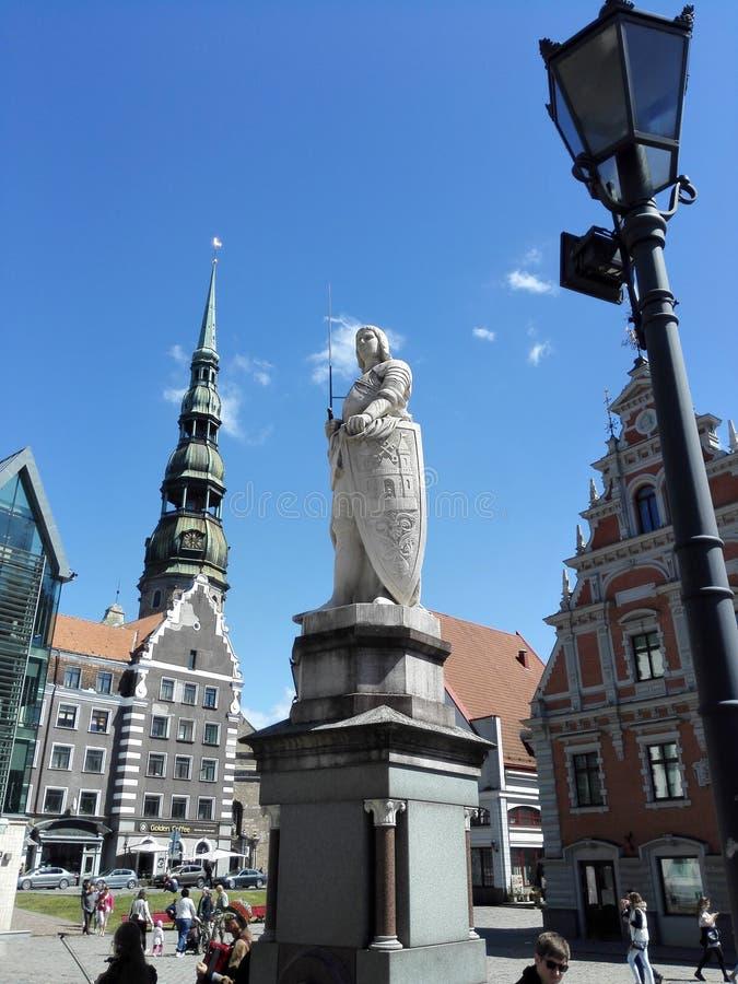 Den gamla staden av Riga royaltyfri fotografi