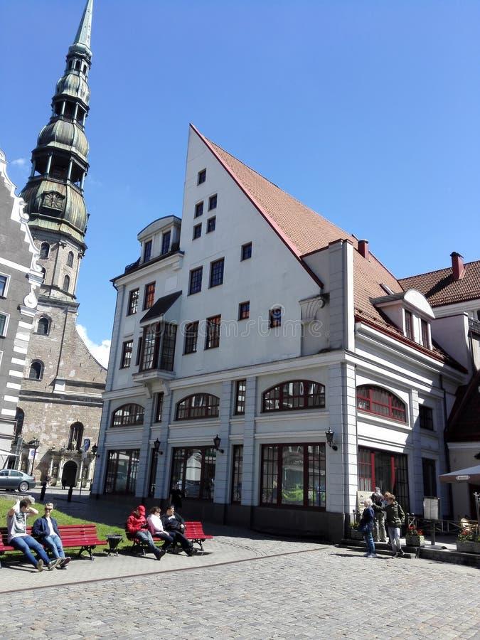 Den gamla staden av Riga royaltyfri bild