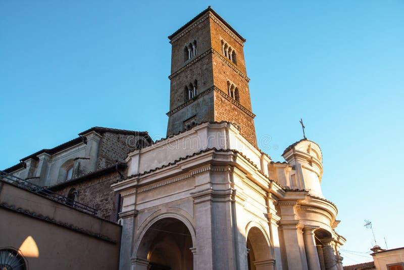 Den gamla staden av Sutri i Lazio, Italien royaltyfri bild