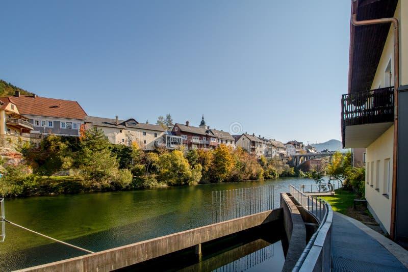 Den gamla staden av Waidhofen en der Ybbs i höst, Mostviertel, lägre Österrike, Österrike arkivfoton