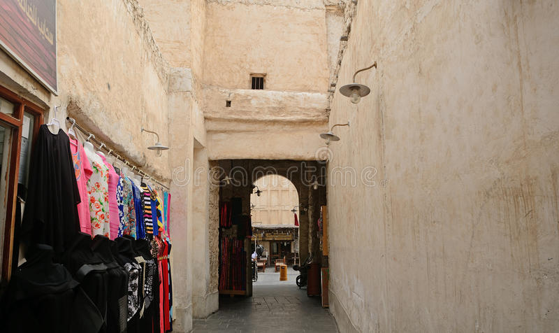 Den gamla staden, Doha, Qatar arkivbilder