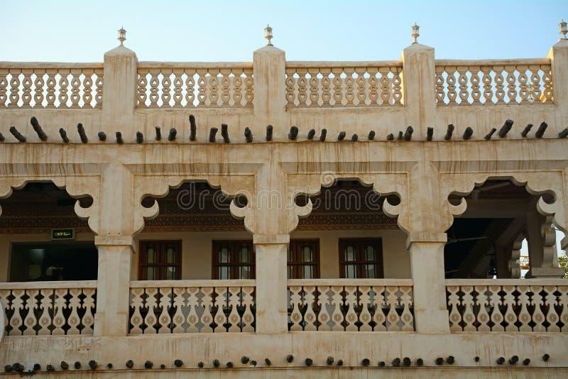 Den gamla staden, Doha, Qatar fotografering för bildbyråer