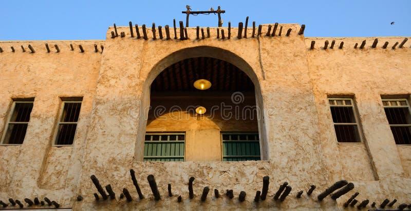 Den gamla staden, Doha, Qatar royaltyfri bild