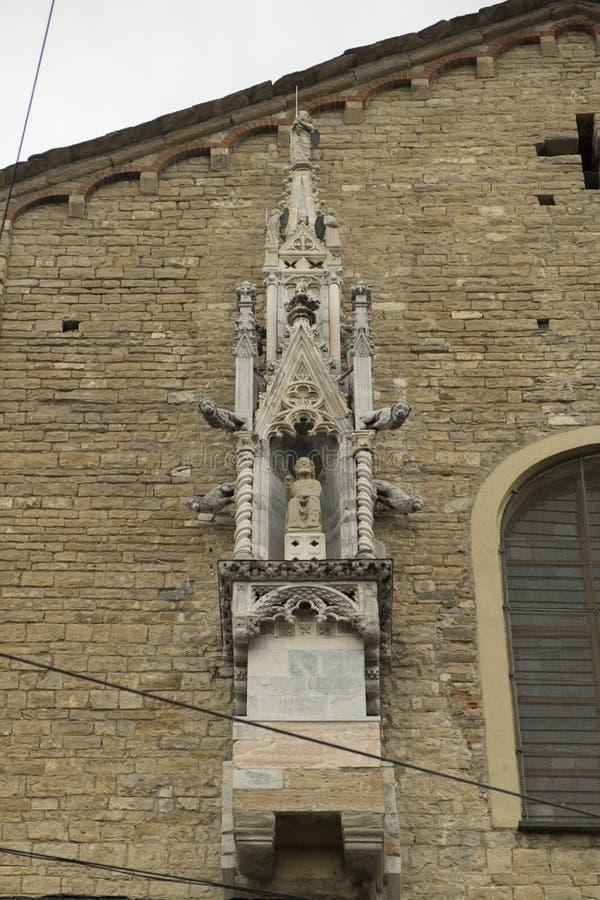 Den gamla staden i Bergamo, Italien royaltyfria bilder