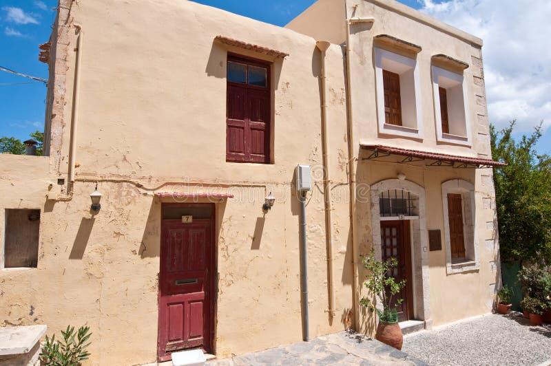Den gamla staden i den Rethymno staden crete greece arkivfoto